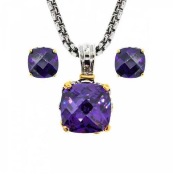 Earring Necklace Set Jewelry - NWT light purple lavender pendant earring 2 pc set